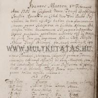 Bőcs református anyakönyv görög betűs írás